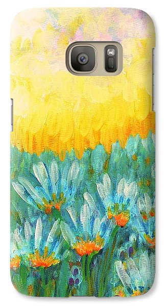 Galaxy Case featuring the painting Firelight by Holly Carmichael