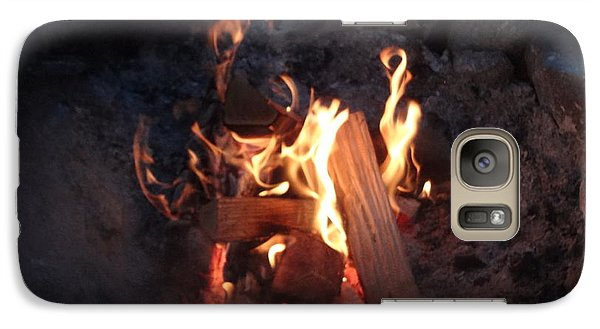 Galaxy Case featuring the photograph Fireside Seat by Michael Porchik