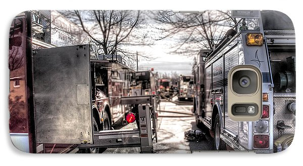 Galaxy Case featuring the photograph Firetruck Isle by Jim Lepard