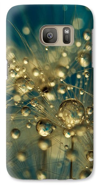 Galaxy Case featuring the photograph Firework Dandy In Blue by Sharon Johnstone