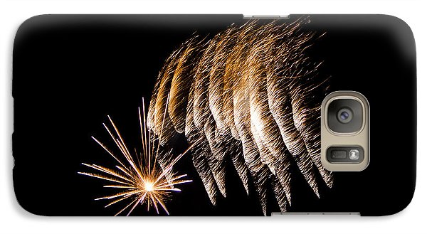 Galaxy Case featuring the photograph Fireworks 1 by Susan  McMenamin