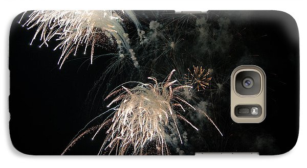 Galaxy Case featuring the photograph Fireworks 3 by Susan  McMenamin