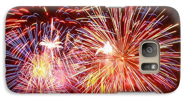 Galaxy Case featuring the photograph Fireworks 4th Of July by Robert Hebert
