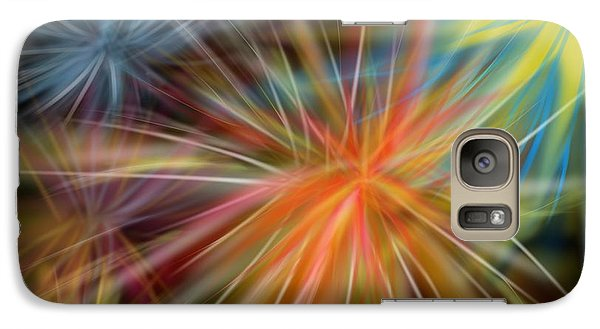 Galaxy Case featuring the digital art Fireworks by Christine Fournier