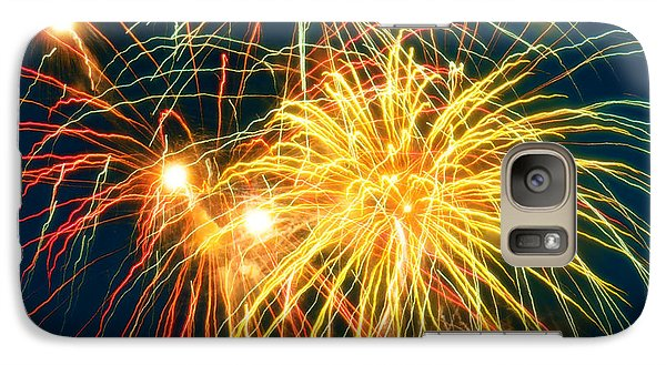 Galaxy Case featuring the photograph Fireworks Finale by Doug Kreuger