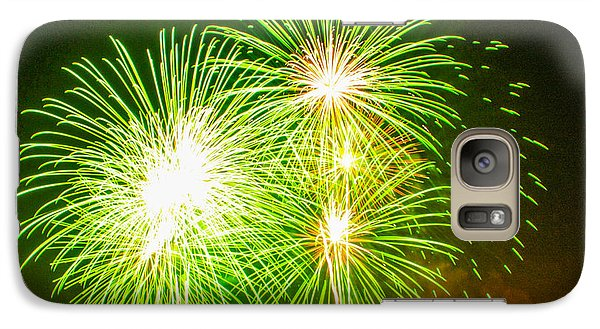 Galaxy Case featuring the photograph Fireworks Green And White by Robert Hebert