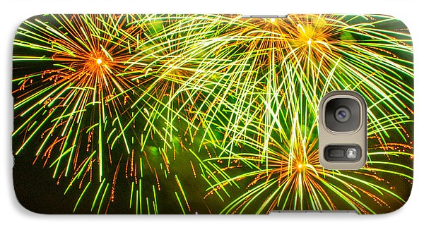 Galaxy Case featuring the photograph Fireworks Green And Yellow by Robert Hebert