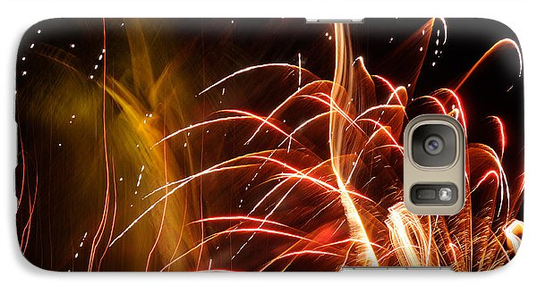Galaxy Case featuring the photograph Fireworks Finale  by Haleh Mahbod