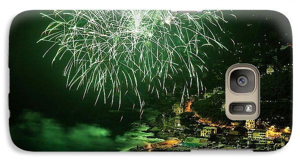 Galaxy Case featuring the photograph Fireworks Hdr by Antonio Scarpi
