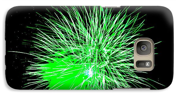 Galaxy Case featuring the photograph Fireworks In Green by Michael Porchik