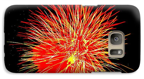 Galaxy Case featuring the photograph Fireworks In Red And Yellow by Michael Porchik