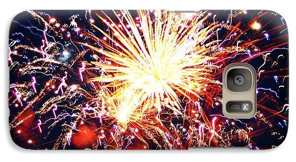 Galaxy Case featuring the photograph Fireworks by Kara  Stewart