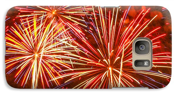Galaxy Case featuring the photograph Fireworks Orange And Yellow by Robert Hebert
