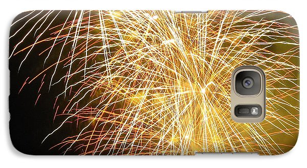 Galaxy Case featuring the photograph Fireworks by Ramona Johnston