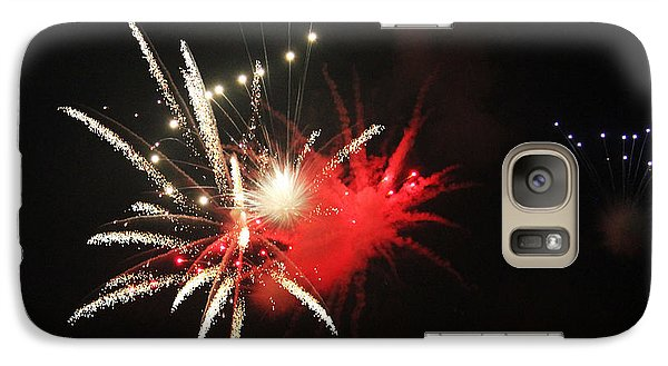 Galaxy Case featuring the photograph Fireworks by Rowana Ray