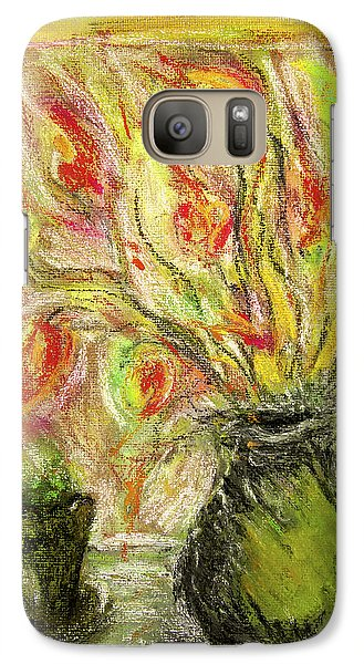 Galaxy Case featuring the painting Firery Window by Linde Townsend