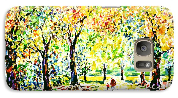 Galaxy Case featuring the painting First Autumnal Walk On His Own Feet by Alfred Motzer