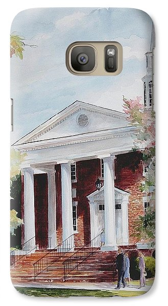 Galaxy Case featuring the painting First Baptist Church Sold by Gloria Turner