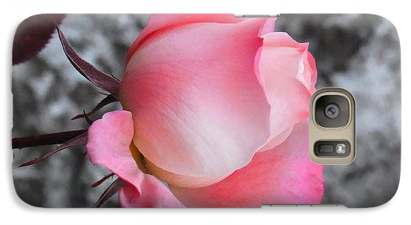 Galaxy Case featuring the photograph First Blush by Agnieszka Ledwon