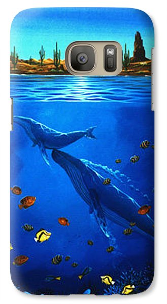 Galaxy Case featuring the painting First Breath by Lance Headlee