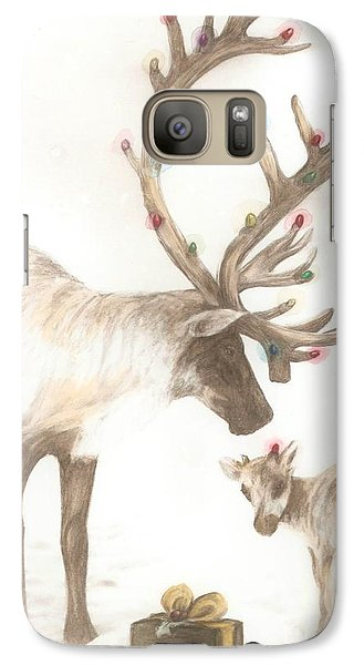 Galaxy Case featuring the  First Christmas by Meagan  Visser