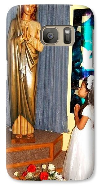 Galaxy Case featuring the photograph First Communion---greeting Cards by Saribelle Rodriguez