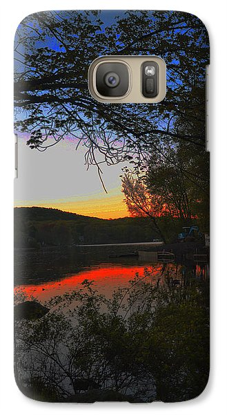 Galaxy Case featuring the painting First Dark by Dottie Branchreeves