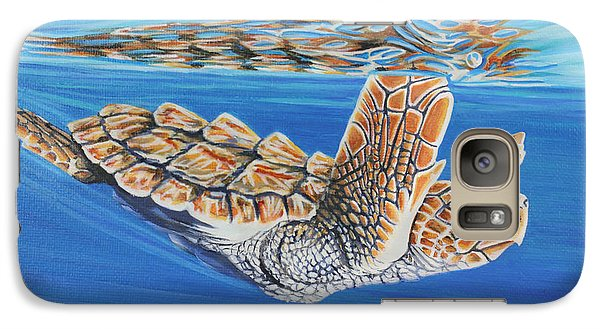 Galaxy Case featuring the painting First Dive by Jane Girardot