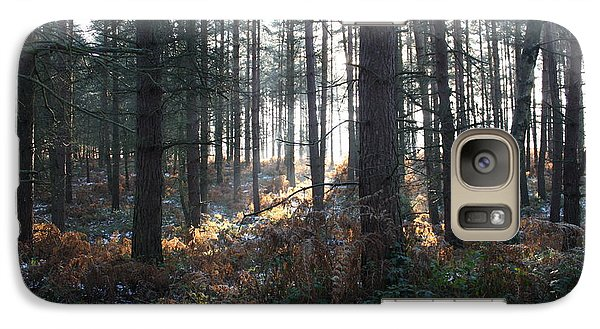 Galaxy Case featuring the photograph First Fall Of Snow On Cannock Chase by Jean Walker