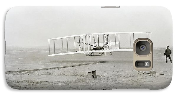 Airplanes Galaxy S7 Case - First Flight Captured On Glass Negative - 1903 by Daniel Hagerman