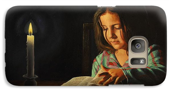 Galaxy Case featuring the painting First Light by Glenn Beasley