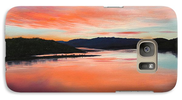 Galaxy Case featuring the painting Arkansas River Sunrise by Glenn Beasley