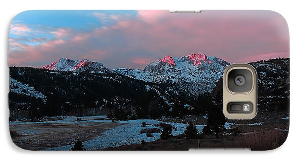Galaxy Case featuring the photograph First Light On Carson by Paul Foutz