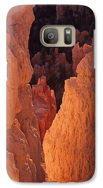 Galaxy Case featuring the photograph First Light On Hoodoos by Susan Rovira