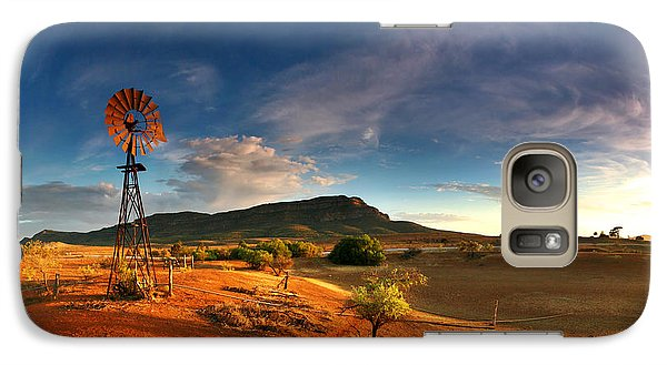 Landscapes Galaxy S7 Case - First Light On Wilpena Pound by Bill  Robinson