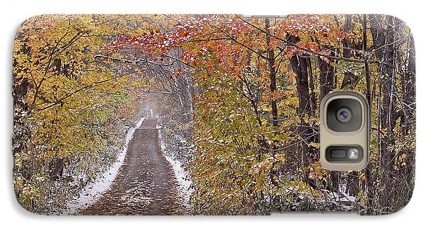 Galaxy Case featuring the photograph First Snow by Alan L Graham