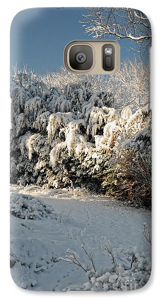 Galaxy Case featuring the photograph First Snow Fall by Nigel Fletcher-Jones