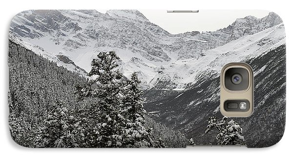 Galaxy Case featuring the photograph First Snow In Huang Long by Yue Wang