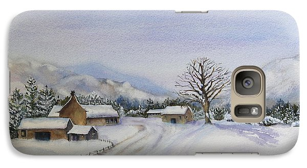 Galaxy Case featuring the painting First Snow by Jan Cipolla