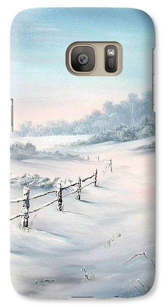 Galaxy Case featuring the painting First Snows by Jean Walker