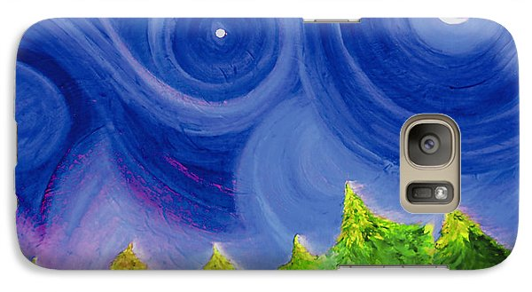 Galaxy Case featuring the painting First Star By  Jrr by First Star Art