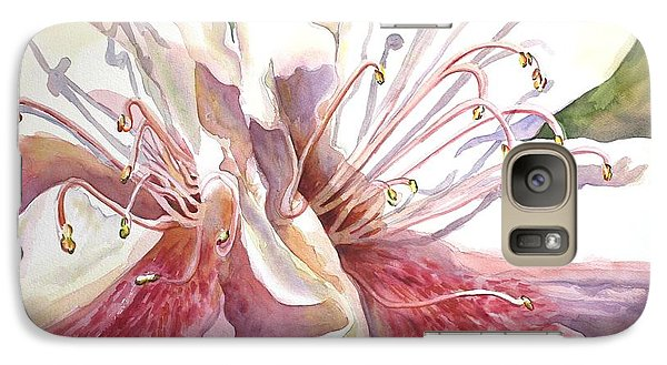 Galaxy Case featuring the painting First Thoughts Of Spring by Roxanne Tobaison