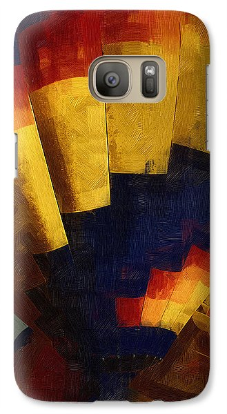 Galaxy Case featuring the digital art First Up by Kirt Tisdale