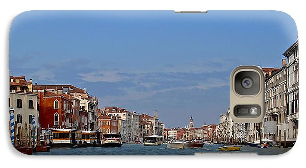 Galaxy Case featuring the photograph First View Of Venice by Kathy Ponce