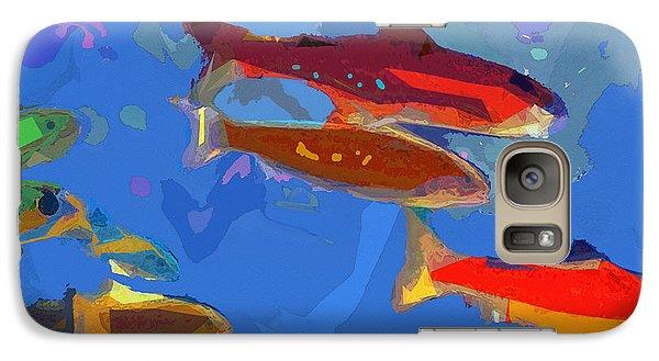 Galaxy Case featuring the digital art Fish 1 by David Klaboe