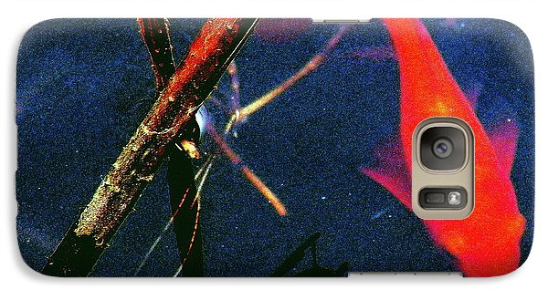 Galaxy Case featuring the photograph Fish Bubble by Faith Williams