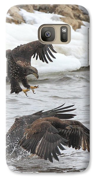 Galaxy Case featuring the photograph Fish Fight by Coby Cooper