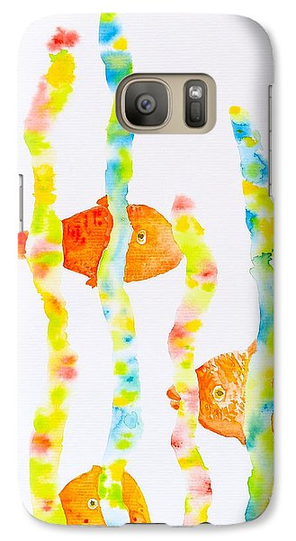 Galaxy Case featuring the painting Fish Fun by Michele Myers