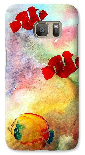 Galaxy Case featuring the photograph Fish In The Sea by Athala Carole Bruckner