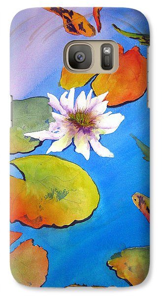 Galaxy Case featuring the painting Fish Pond I by Lil Taylor